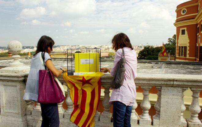 L'urna, davanti all'ambasciata spagnola, Gianicolo, Roma